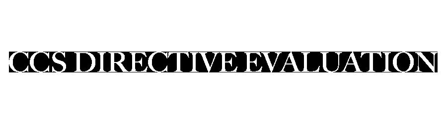 Ccs Directive Evaluation